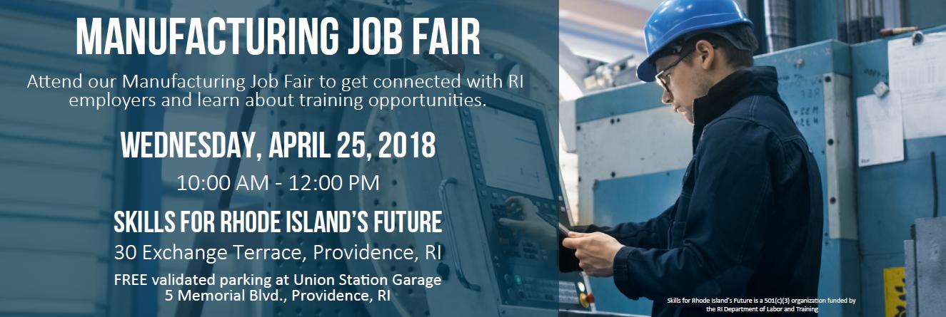 Manufacturing Job Fair 4.25.18 Web Banner
