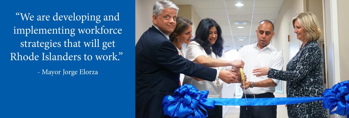 SkillsRI Ribbon Cutting Mayor Elorza quote
